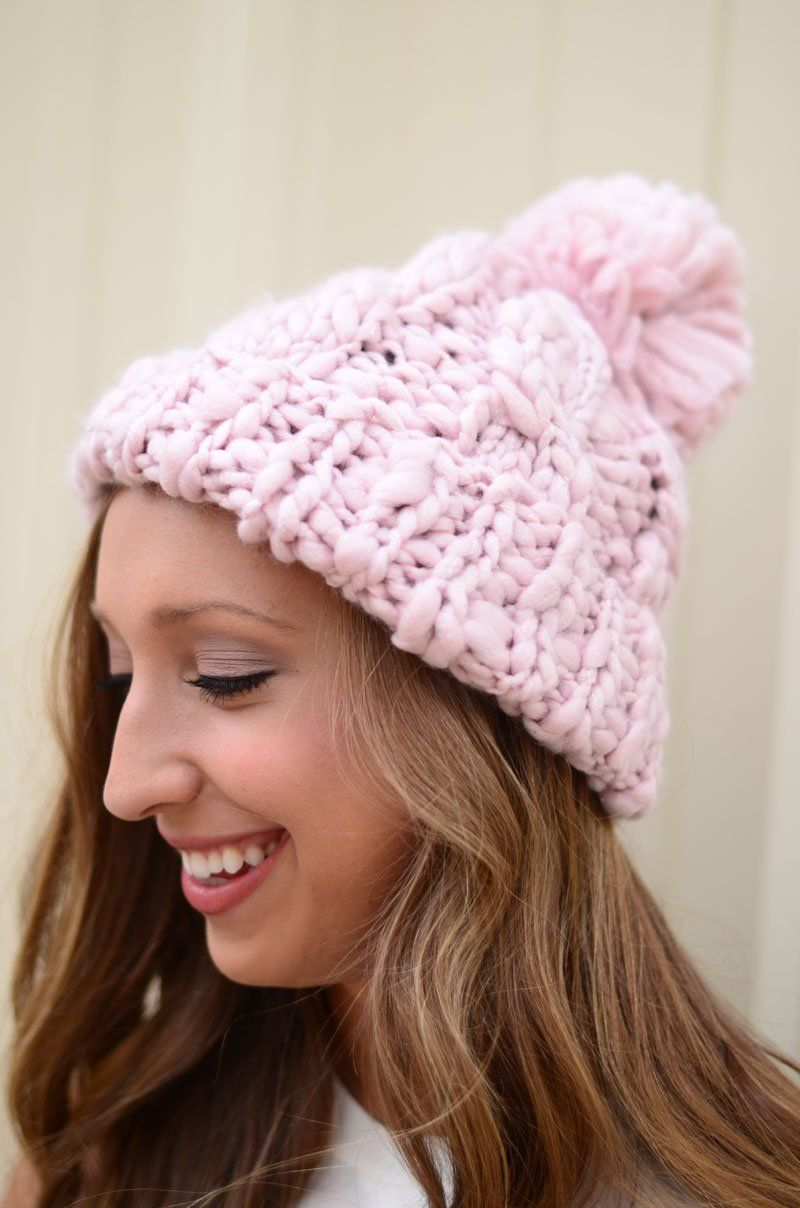 Cozy As Can Be Beanie - Light Pink  417bb935246d