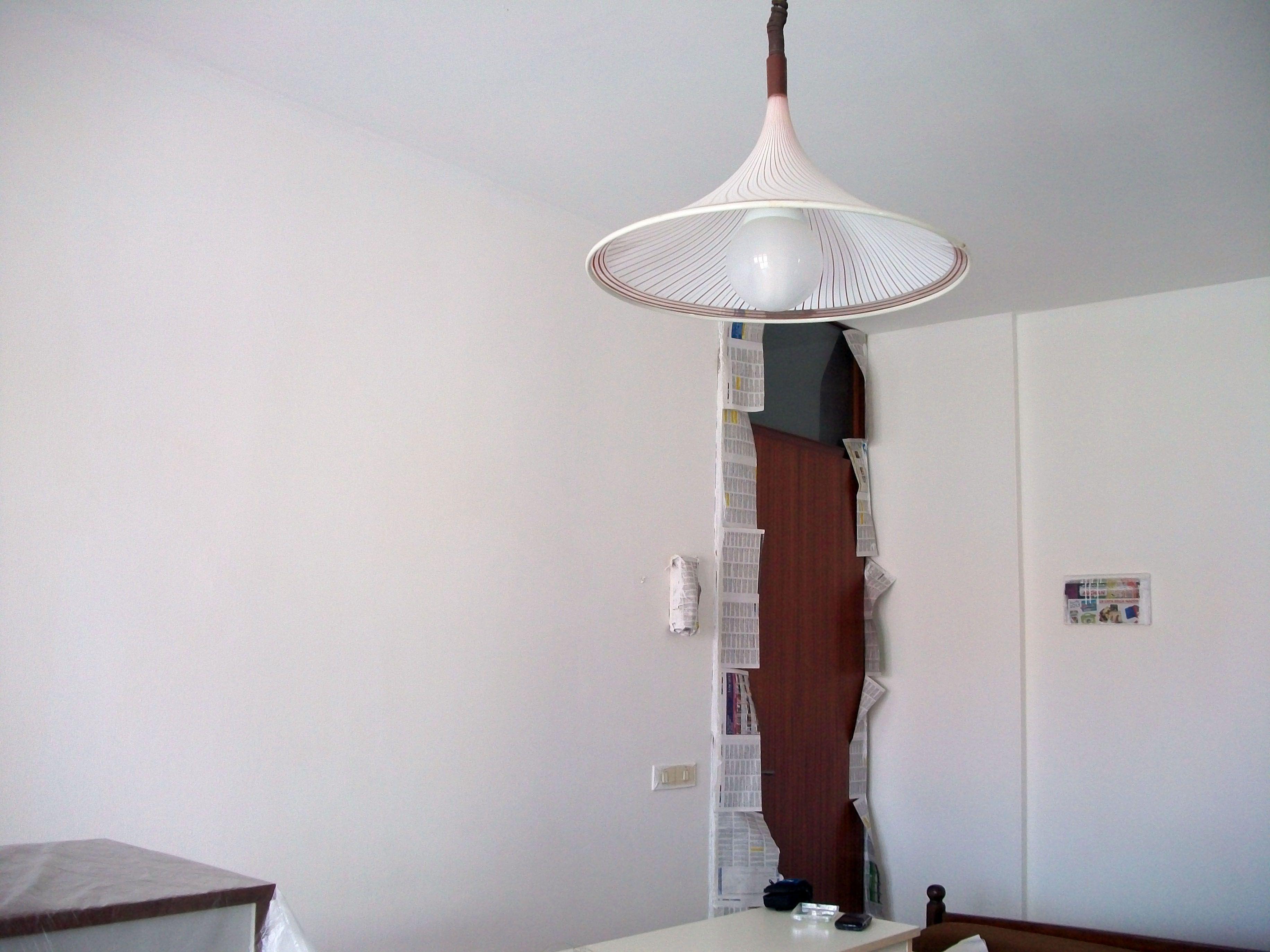Decorazioni soggiorno ~ Pareti sud ovest d ingresso soggiorno prima mano di fondo