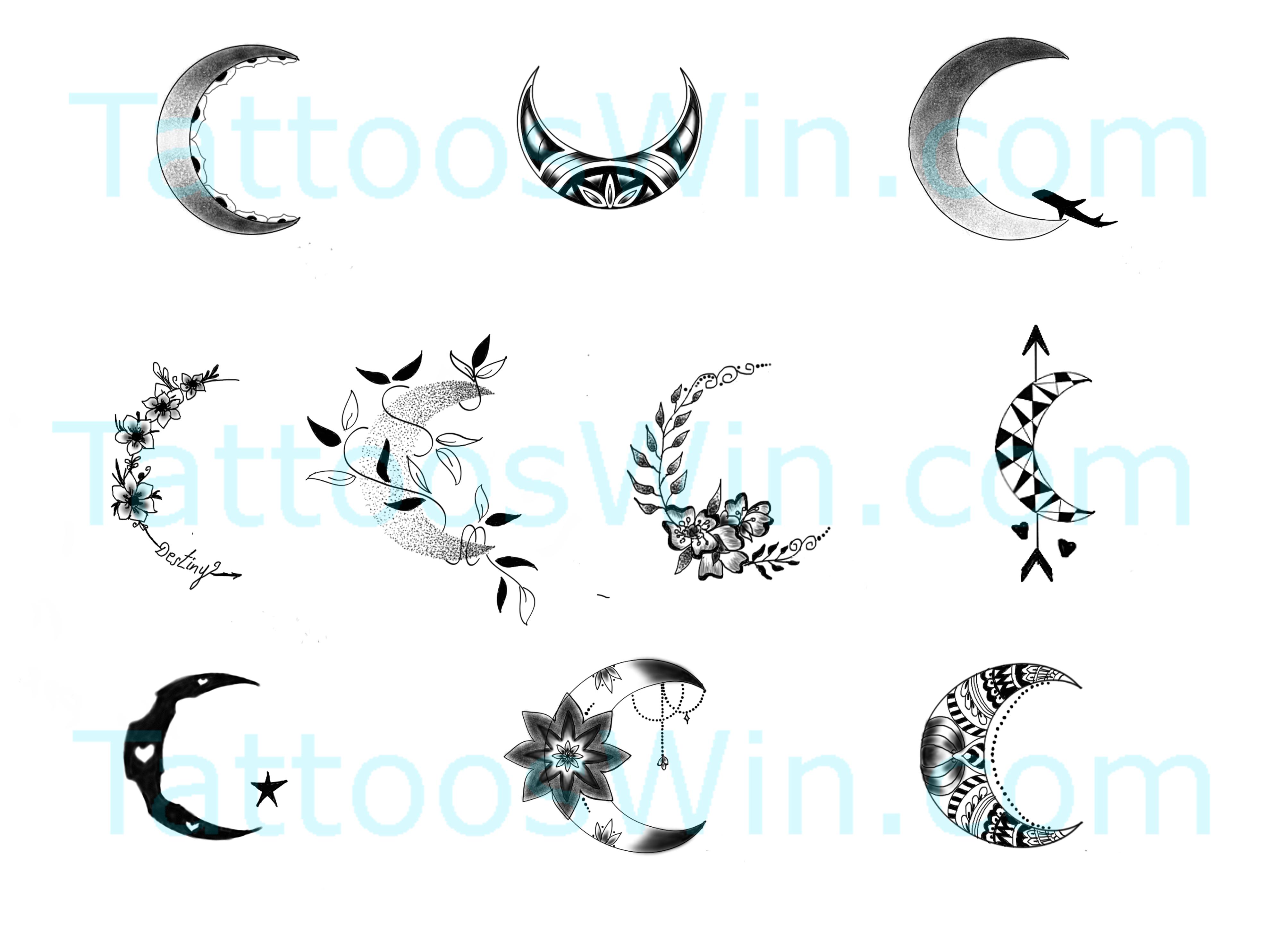Crescent Moon Tattoo Designs Tattooswin Moon Tattoo Designs Crescent Moon Tattoo Moon Tattoo