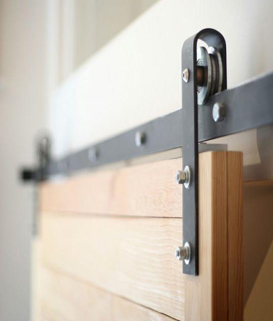 Puerta corrediza con guia exterior buscar con google - Correderas para puertas corredizas ...