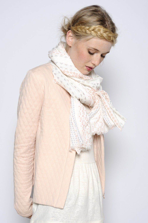 Veste Houzette poudre 80% coton 20% polyester - manteau Femme ... 4794e2d1b21d