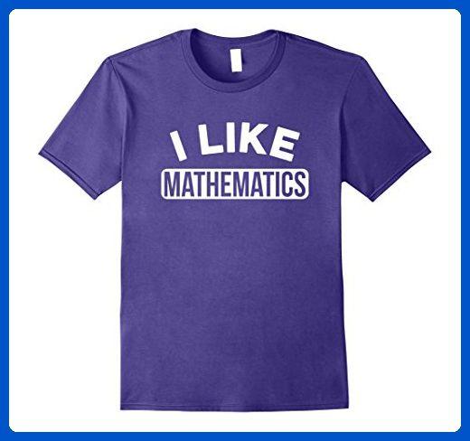 Mens I Like Mathematics Funny T-Shirt for Students and Teachers Medium Purple - Careers professions shirts (*Amazon Partner-Link)