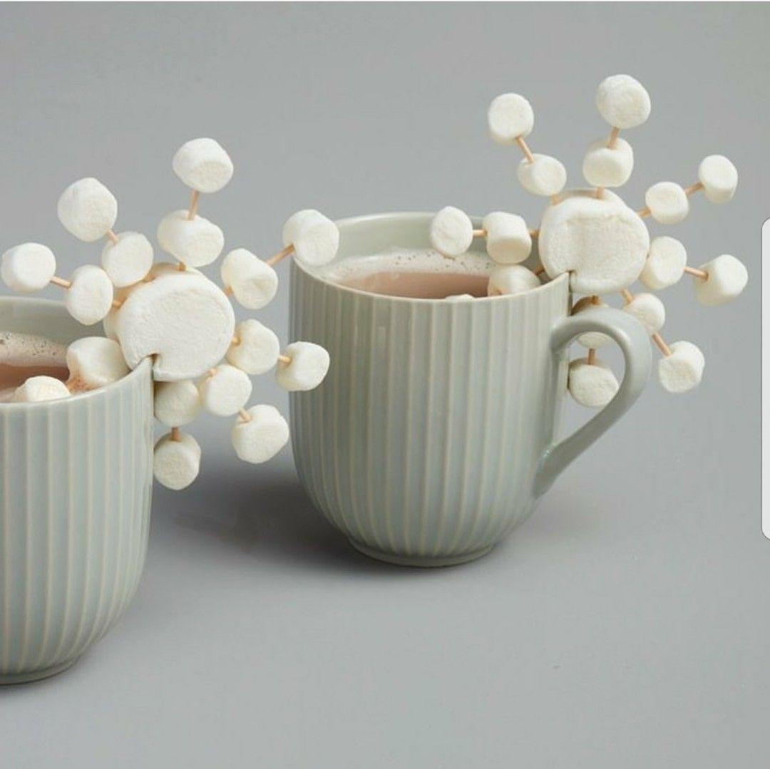 Marshmallows + Toothpicks = Snowflake