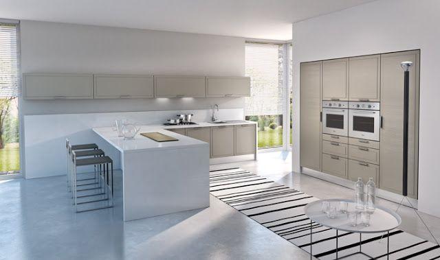 Cuisine design en bois blanchi par armony fabricant italien de cuisines modernes cuisines for Fabricant cuisine design