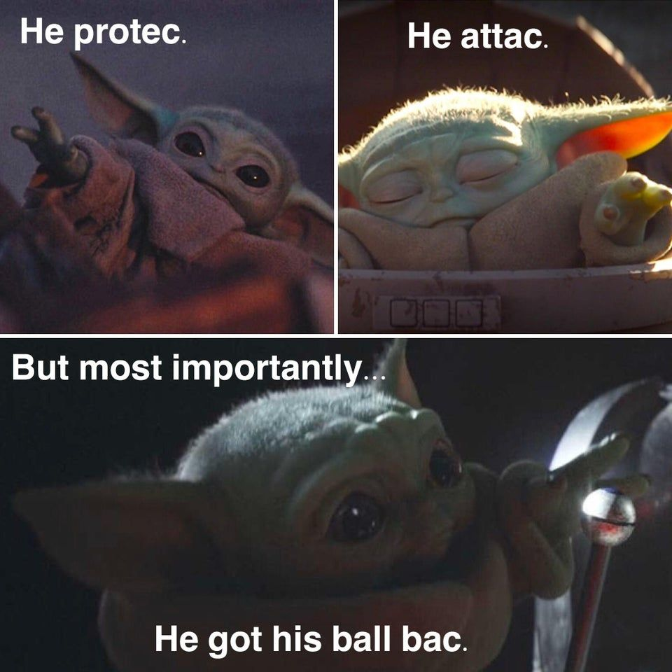 All He Wanted Was Ball Yoda Meme Yoda Funny Star Wars Memes