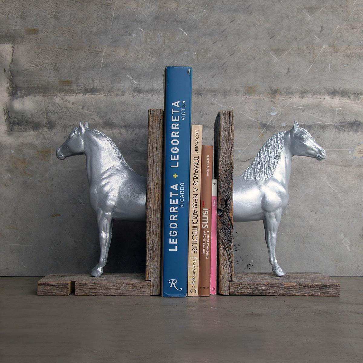 Horse Bookends....DIY Horse bookends, Bookends