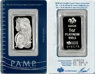 One Ounce Platinum Bar Each Bar Is Guaranteed By Its Respective Mint For Purity And Platinum Weight Platinum Gold Coins Coin Dealers