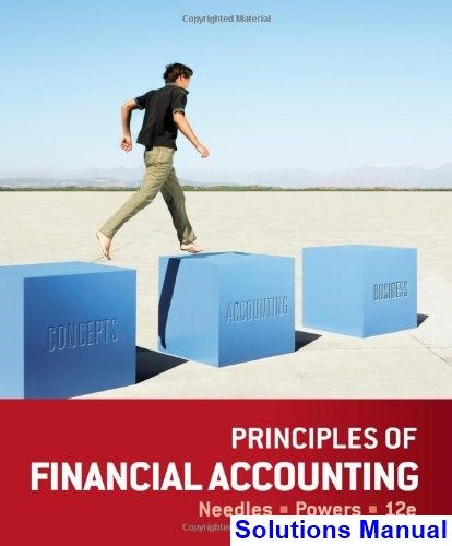 principles financial accounting 12th edition needles solutions rh pinterest com Ho to Manual Manual Bookkeeping Examples
