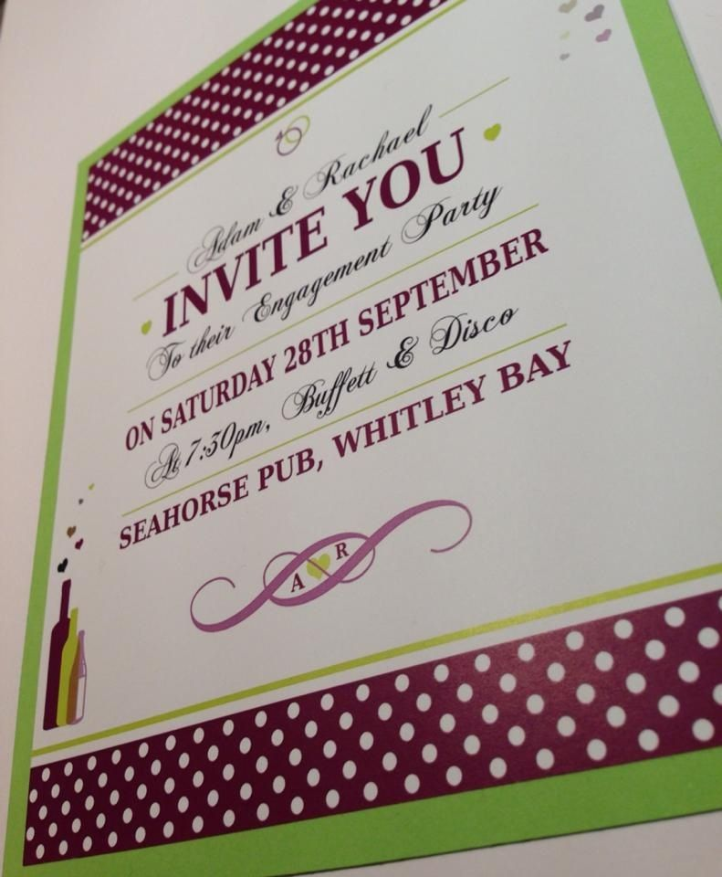 Engagement Party Invitations, By JCT Design | Engagement ...