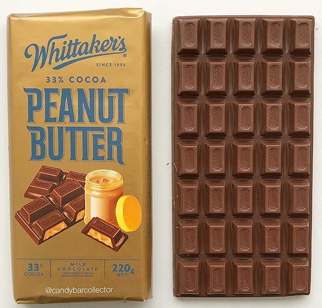 Whittakers Peanut Butter Chocolate Bar New Zealand