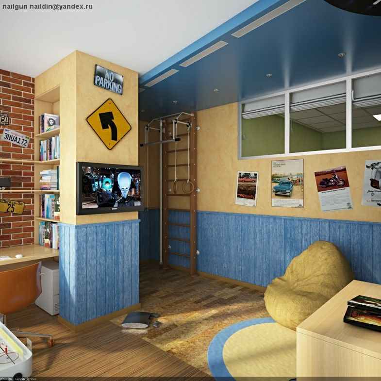 Play Packaged Children Room Ideas   Image 08 : Superb Boys Bedroom And Gym  Equipment