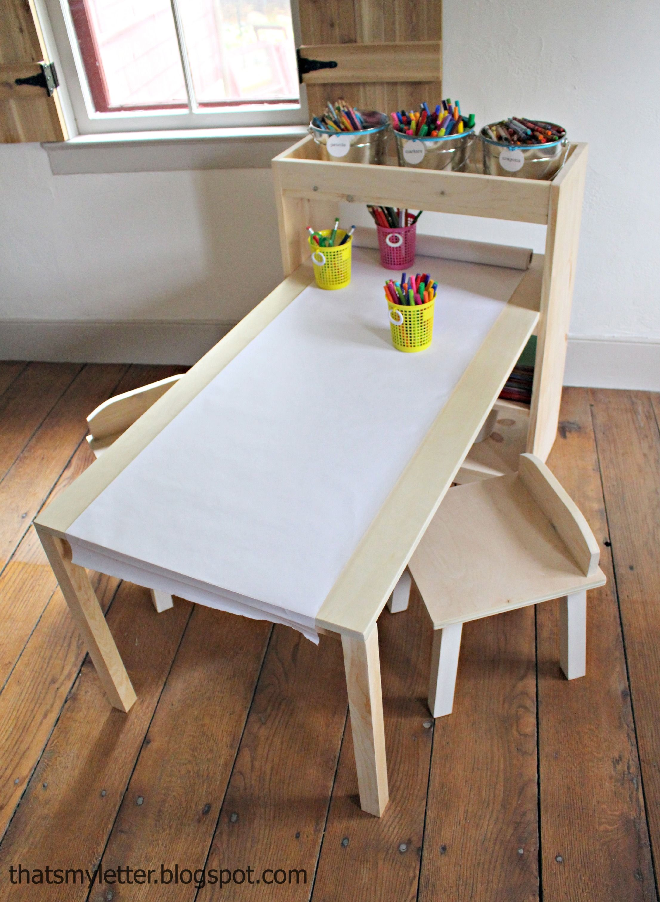 Kids Art Center Kids Art Table Diy Kids Furniture Kids Art Centers