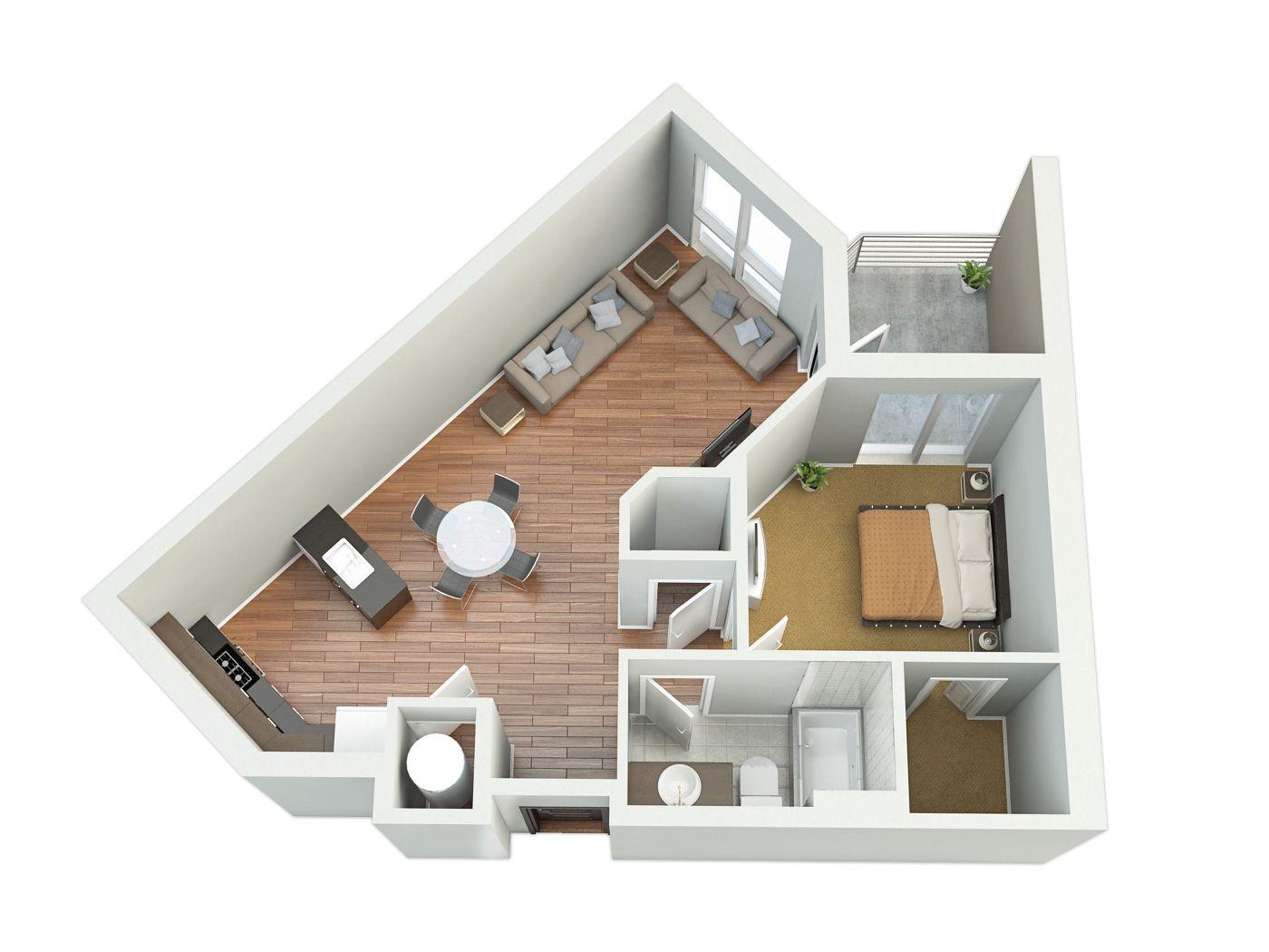 Architectural Design Cost 2d Floor Plan 20 Side Elevation 20 3d Floor Plan 25 Interi Small Apartment Floor Plans Sims House Design House Plans
