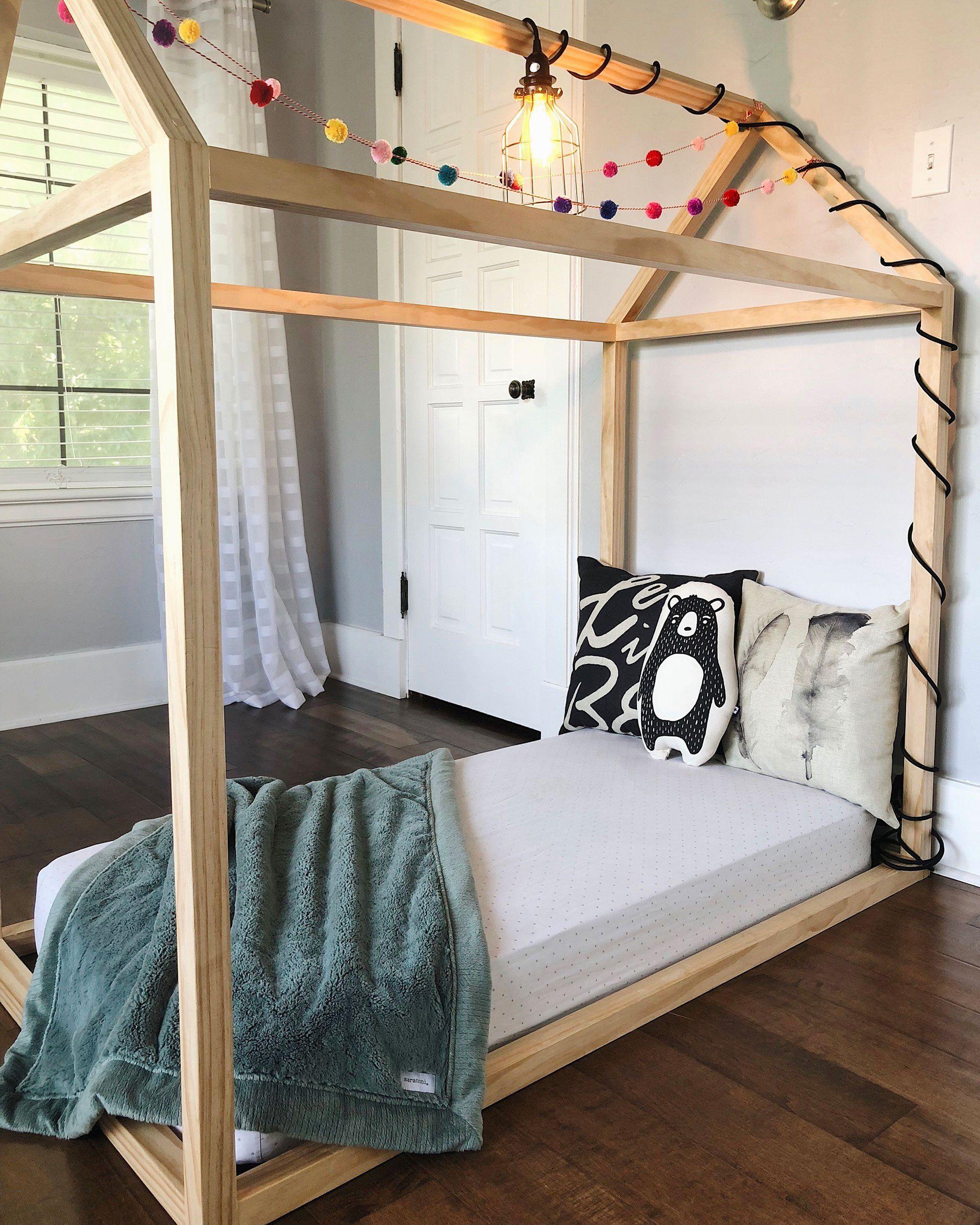 Diy Toddler House Bed Toddler House Bed Toddler Floor Bed