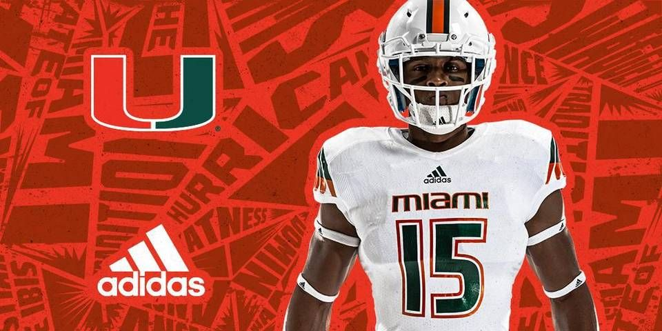 The University of Miami and Adidas unveiled the new Hurricanes football  jerseys caneswear  miamifanwear  UM  TheU  Canesfootball  UMFottball   adidas ... 0f1f81d1b