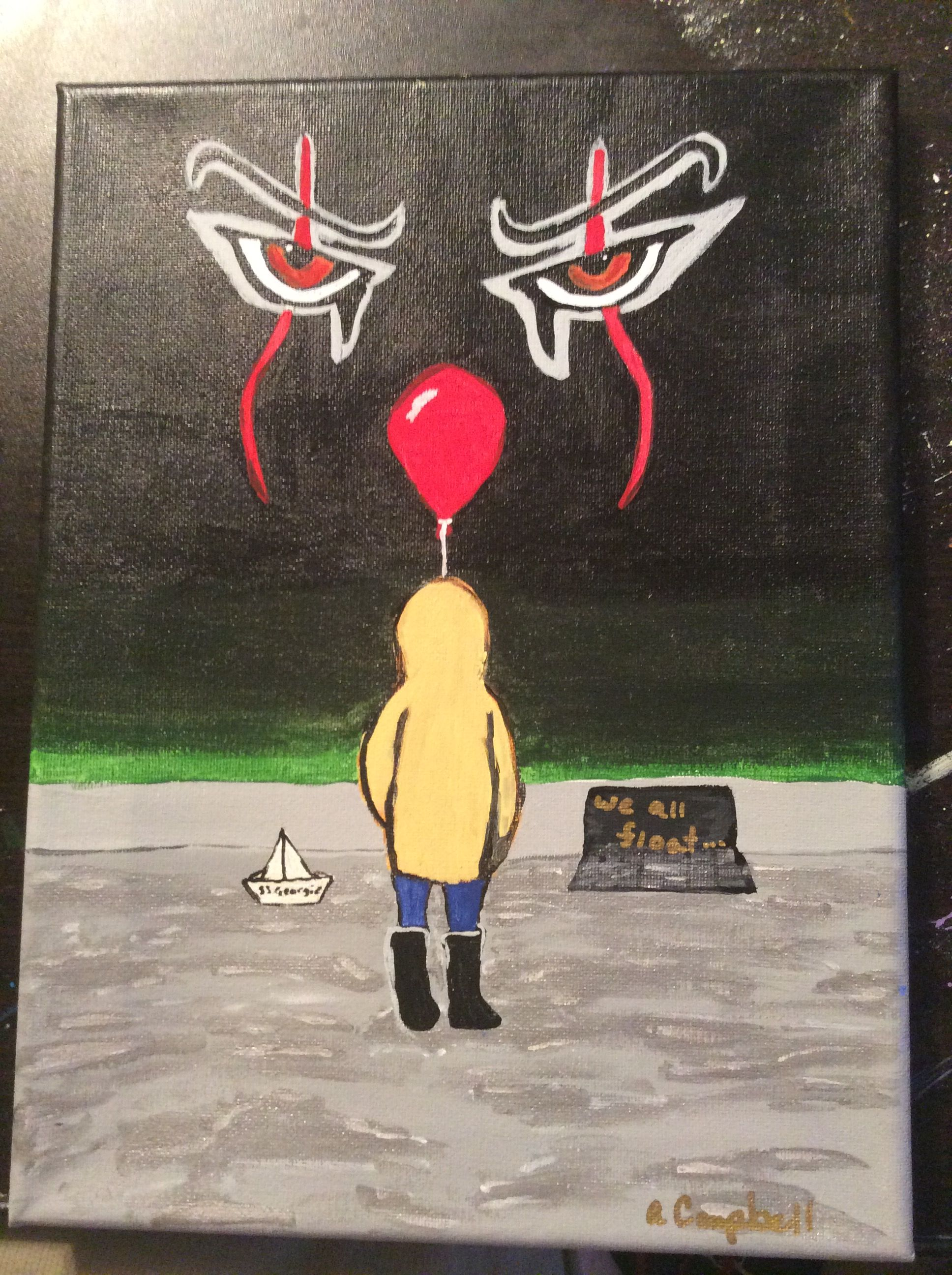 Acrylic Canvas Painting It Georgie And His Boat With Images
