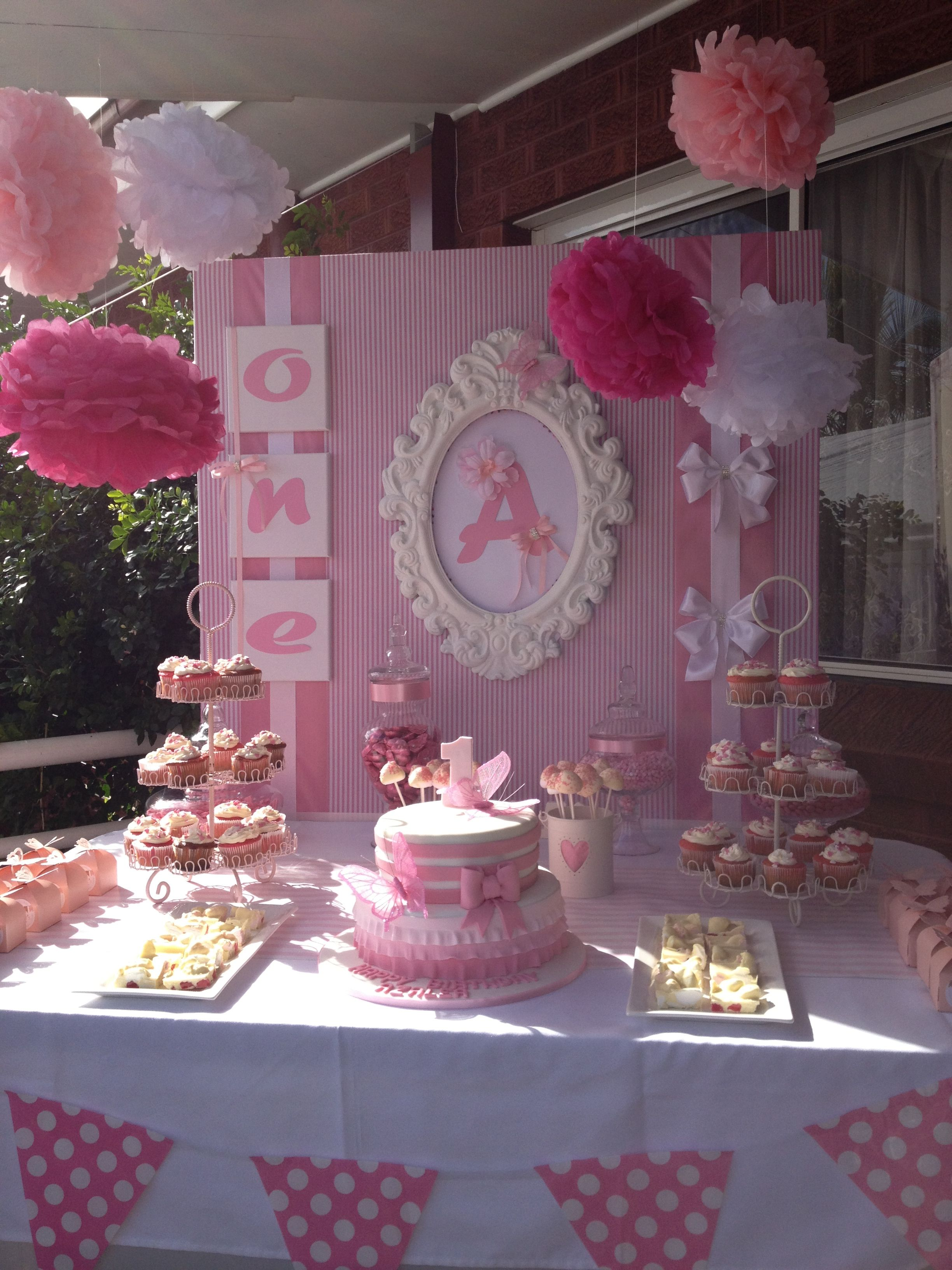 Pin By Natalie Lara On Candy Buffet Candy Bar Pink Candy Buffet Baby Shower Parties Baby Shower