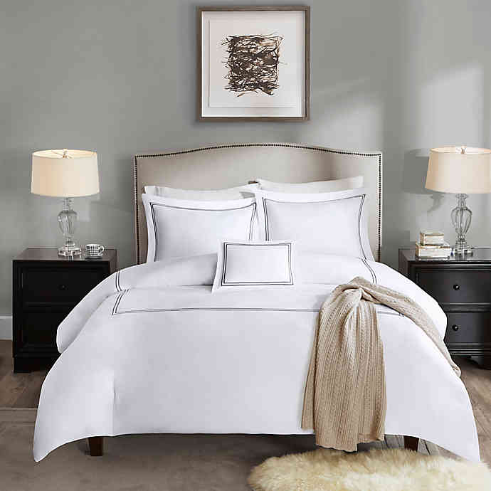 Madison Park Signature 1000 Thread Count Embroidered Duvet Cover Set Bed Bath And Beyond Canada Comforter Sets Bedding Sets Bedding Stores