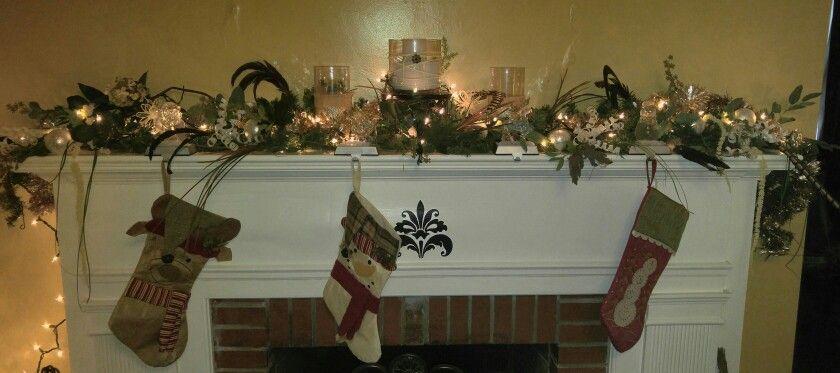 Christmas mantel i did