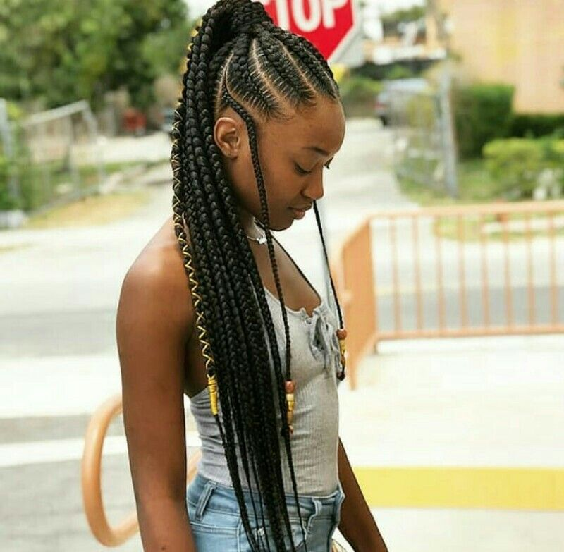 Cute Style Cornrow Ponytail Hair Styles Braided Hairstyles