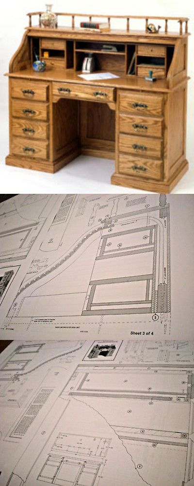 Instruction books and media 183149 roll top desk woodworking instruction books and media 183149 roll top desk woodworking blueprint plan plan only no malvernweather Gallery