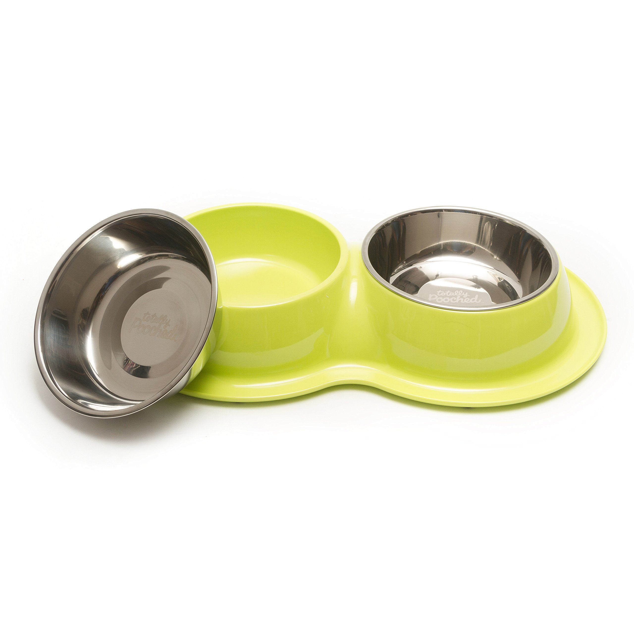 Totally Pooched Elevated Feeder with Stainless Steel Bowls