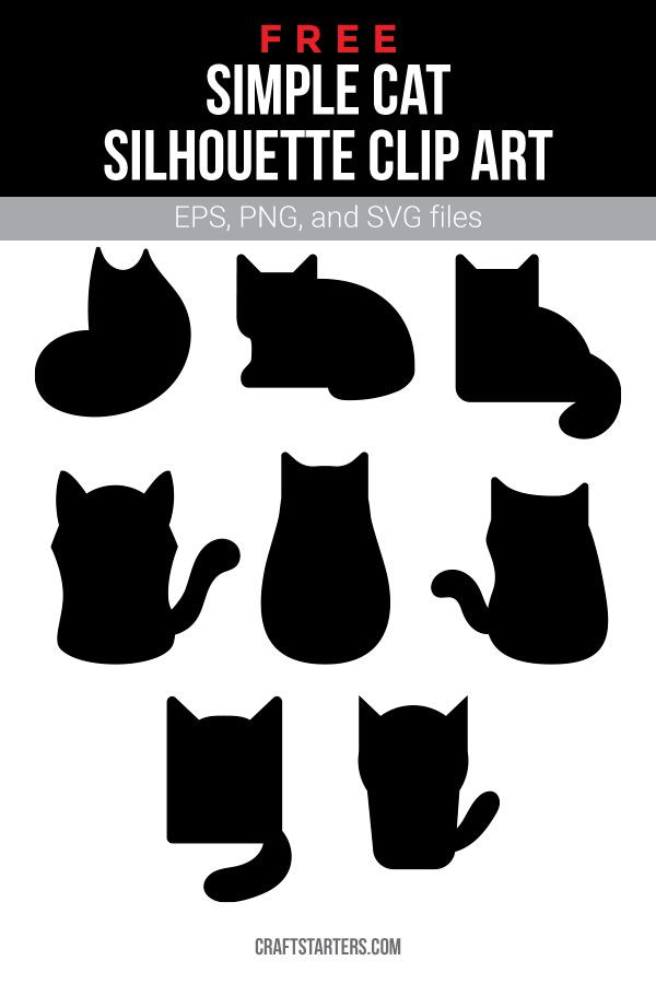 Download Free simple cat silhouette clip art (personal use only ...
