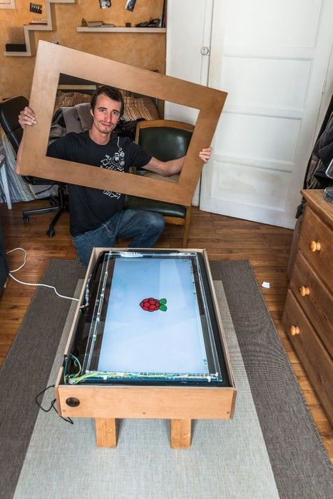 Touch Screen Coffee Table Diy With 32 Tv And Low Cost Ccd