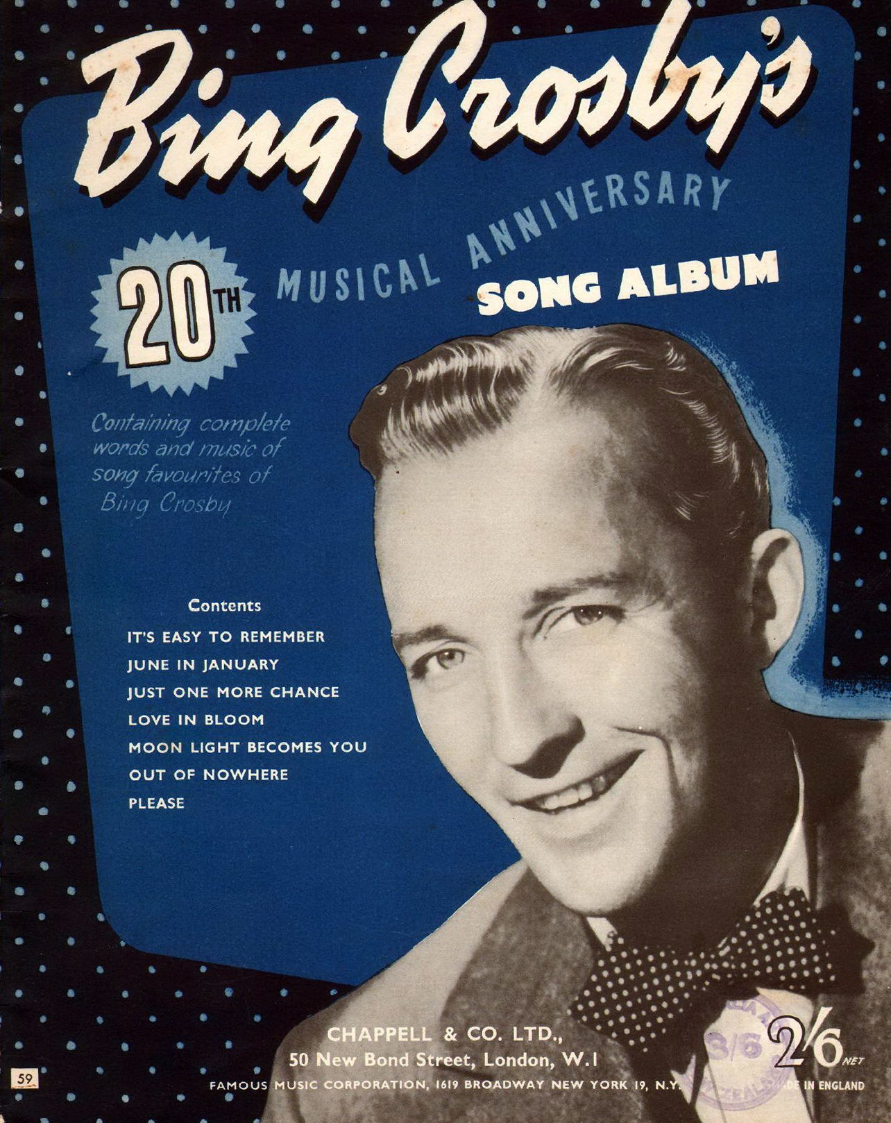 bing crosby s 20th musical anniversary song album 1954 a collection of seven popular songs