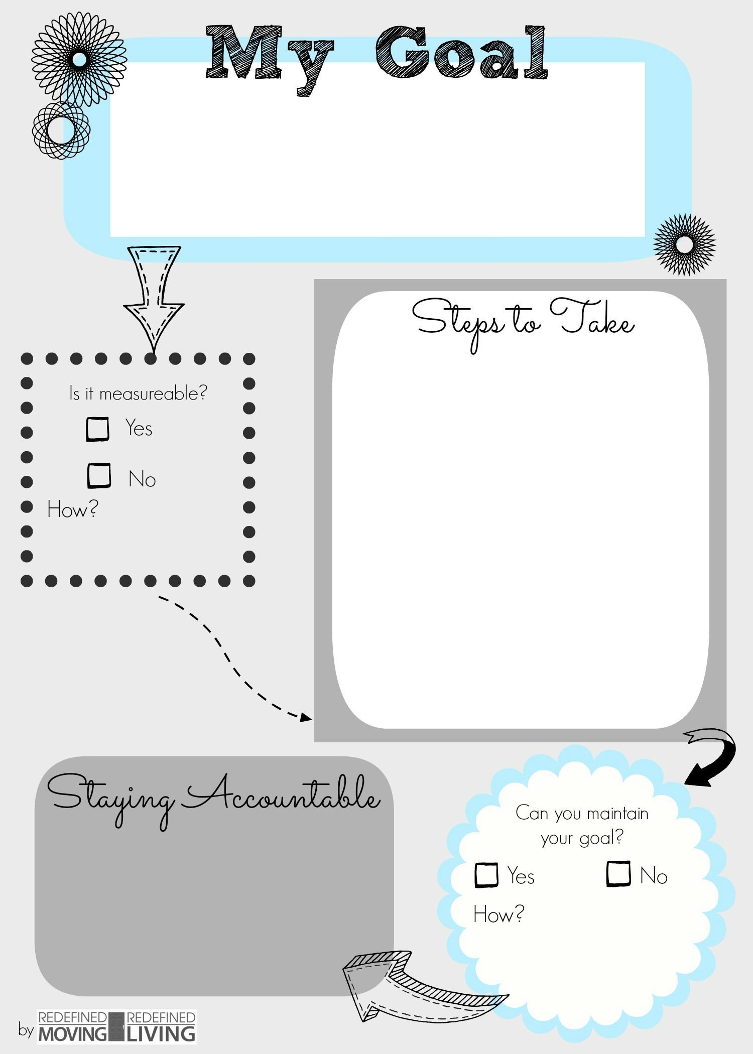 Goal Setting Printables For Teens