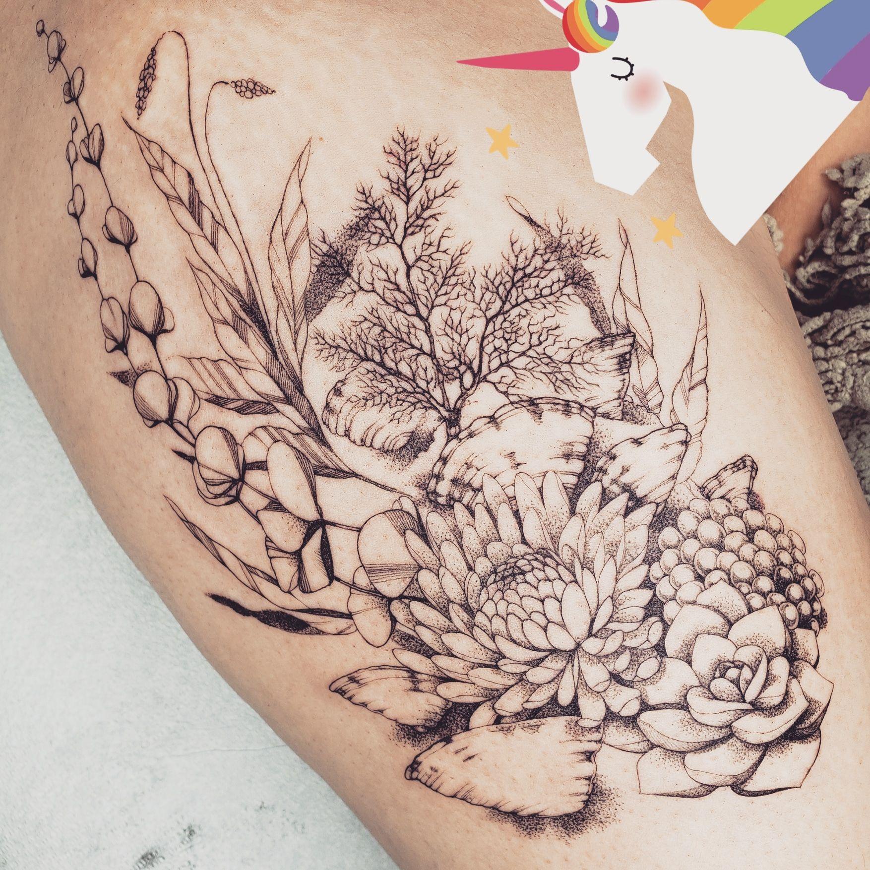My Fine Line Underwater Houseplant Scene Mackenzie Evangeline Northern Tattoo Vancouver Cana In 2020 Ocean Sleeve Tattoos Colorful Sleeve Tattoos Ocean Theme Tattoos