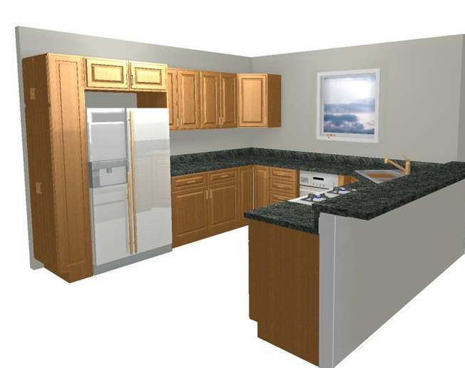 U Shaped Kitchen With Island Design From Italian
