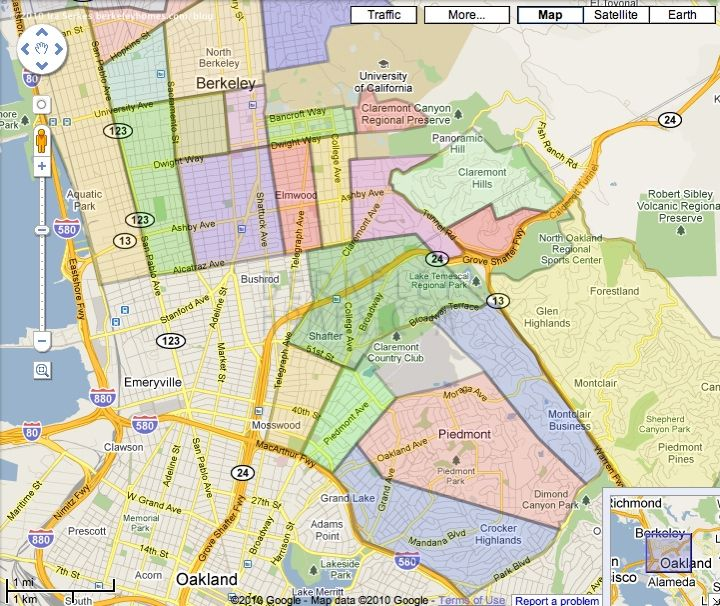 map street east bay cities neighborhoods 3 bay area