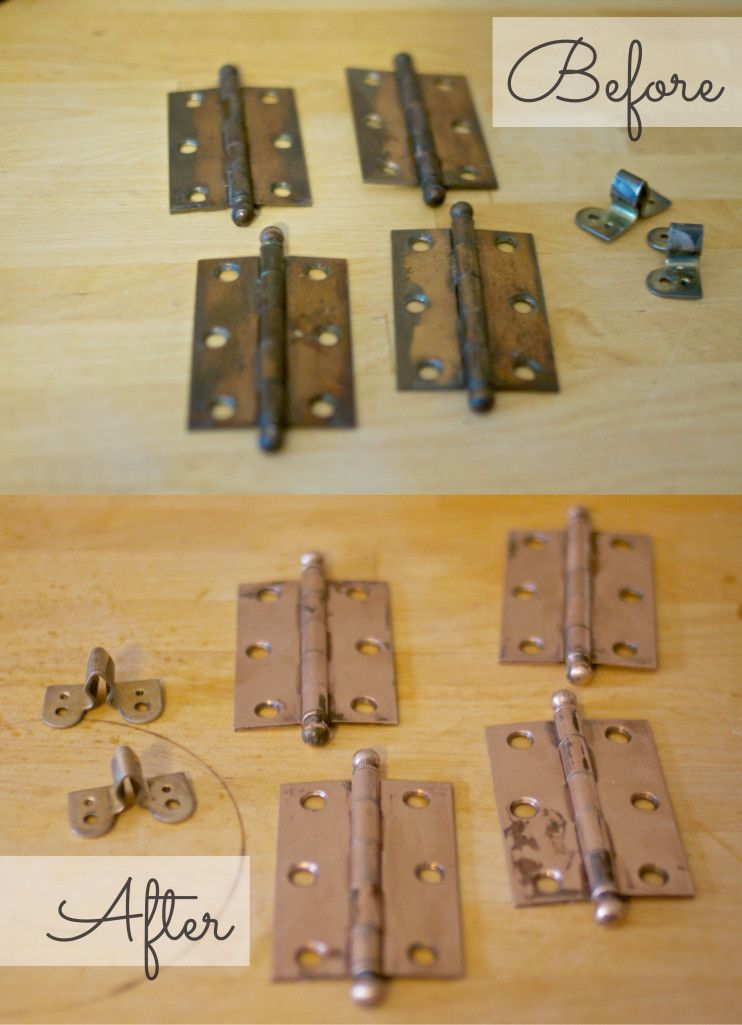 How To Clean Door Hinges, How To Clean Old Kitchen Hinges