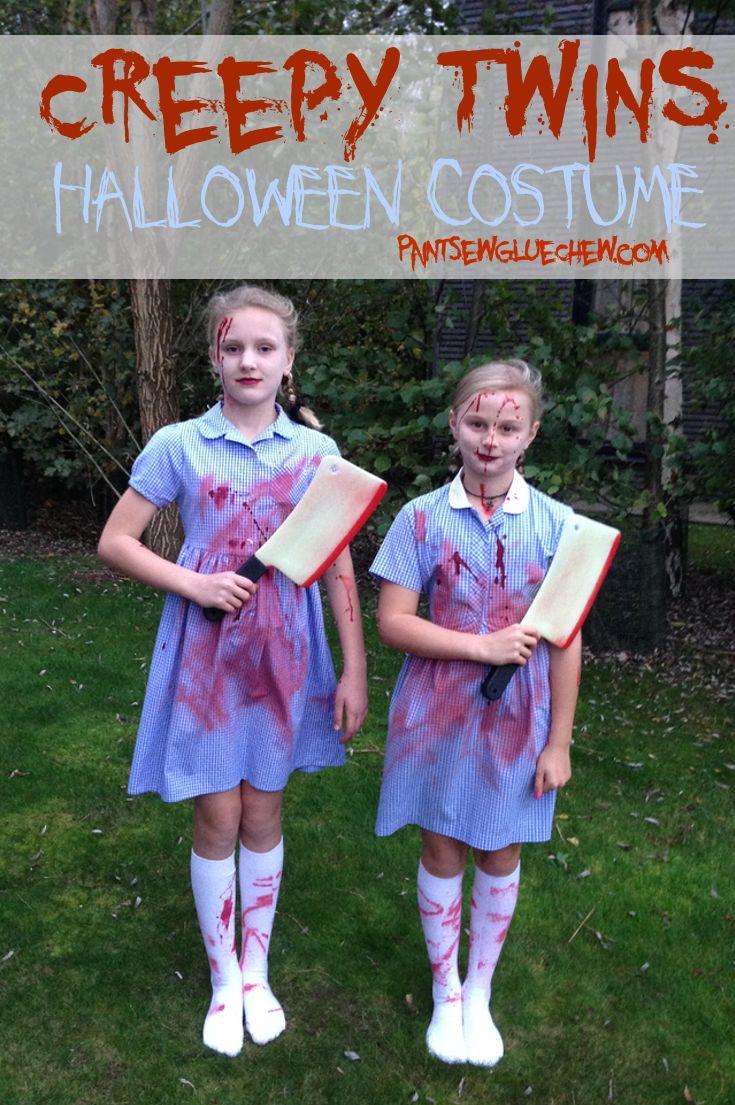 creepy twins halloween costume | halloween decorations, costumes
