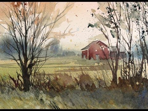 painting a fall landscape in watercolor with susan avis murphy aws youtube watercolor. Black Bedroom Furniture Sets. Home Design Ideas
