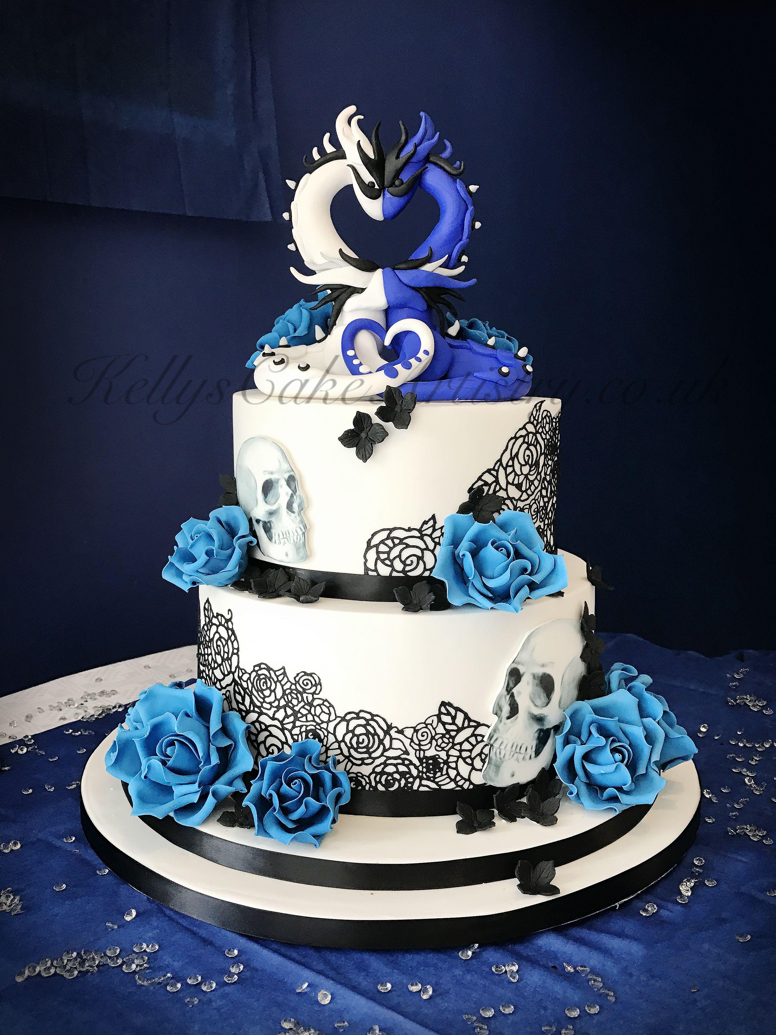 Dragons And Skulls Wedding Cake Dragon Wedding Cake Skull