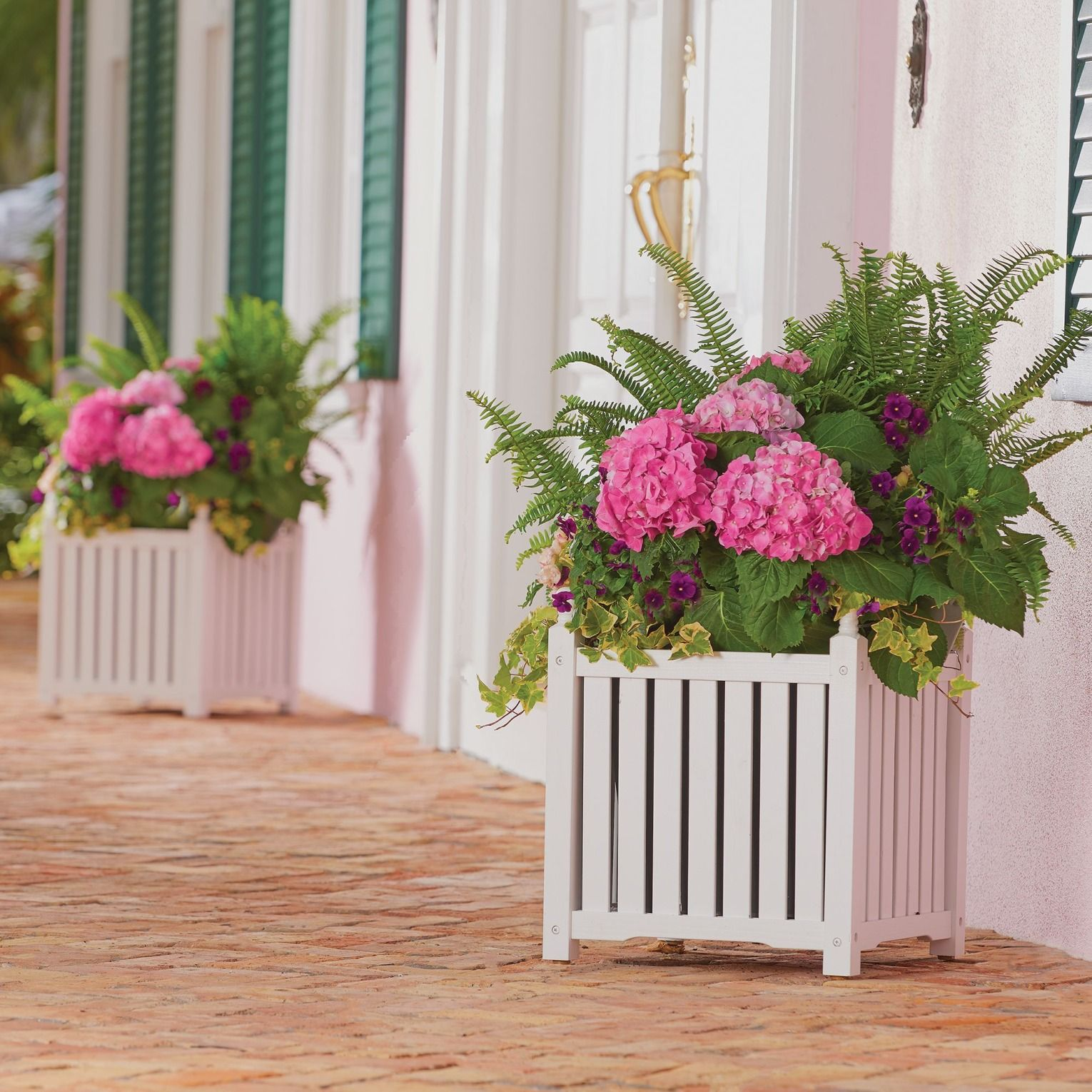 Foyer Planter Box : Add decorative appeal to your deck porch pool area or