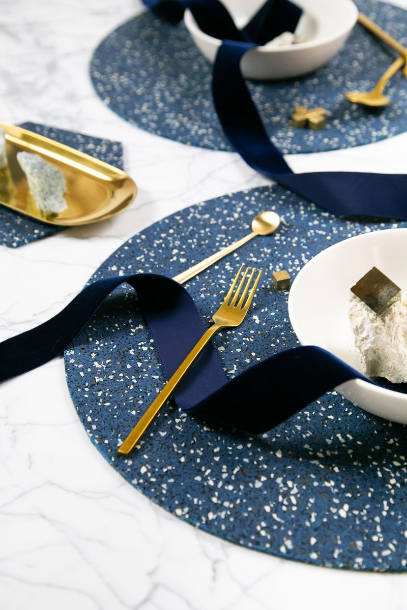 Dinner Setting In Royal Placemats Recycled Rubber Dinner Table Setting