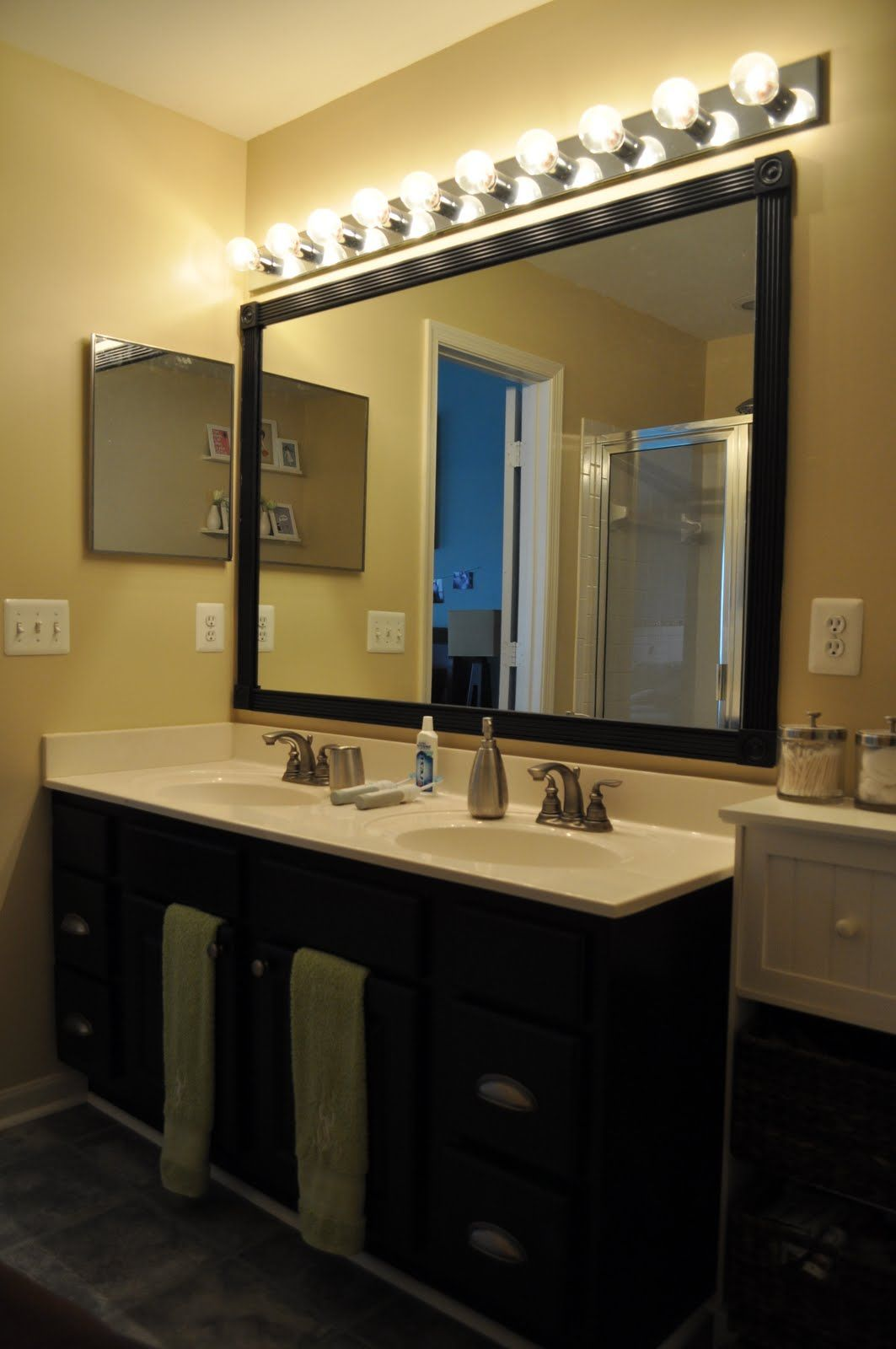 Big Vanity Mirror With Lights Glamorous Frame Mirrors With Crown Molding  Diy  Pinterest  Frame Mirrors Design Ideas