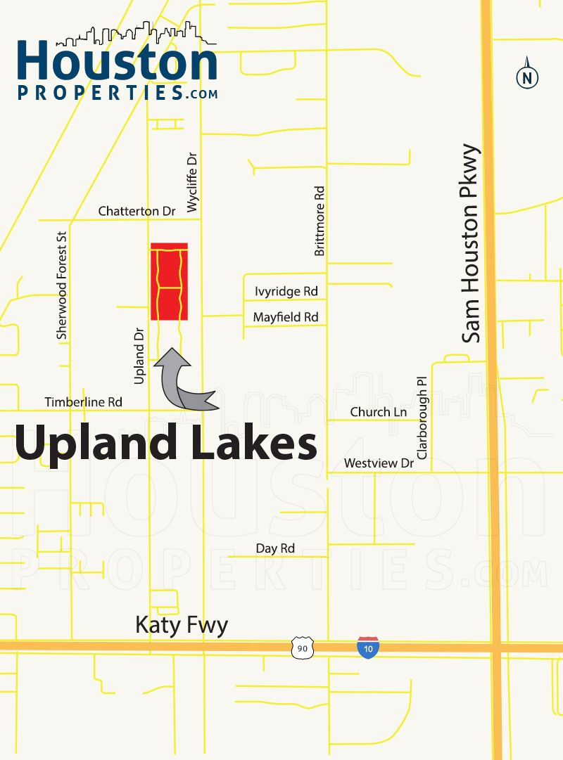 Upland Lakes Houston Map Upland Lakes Homes Are Minutes Away From