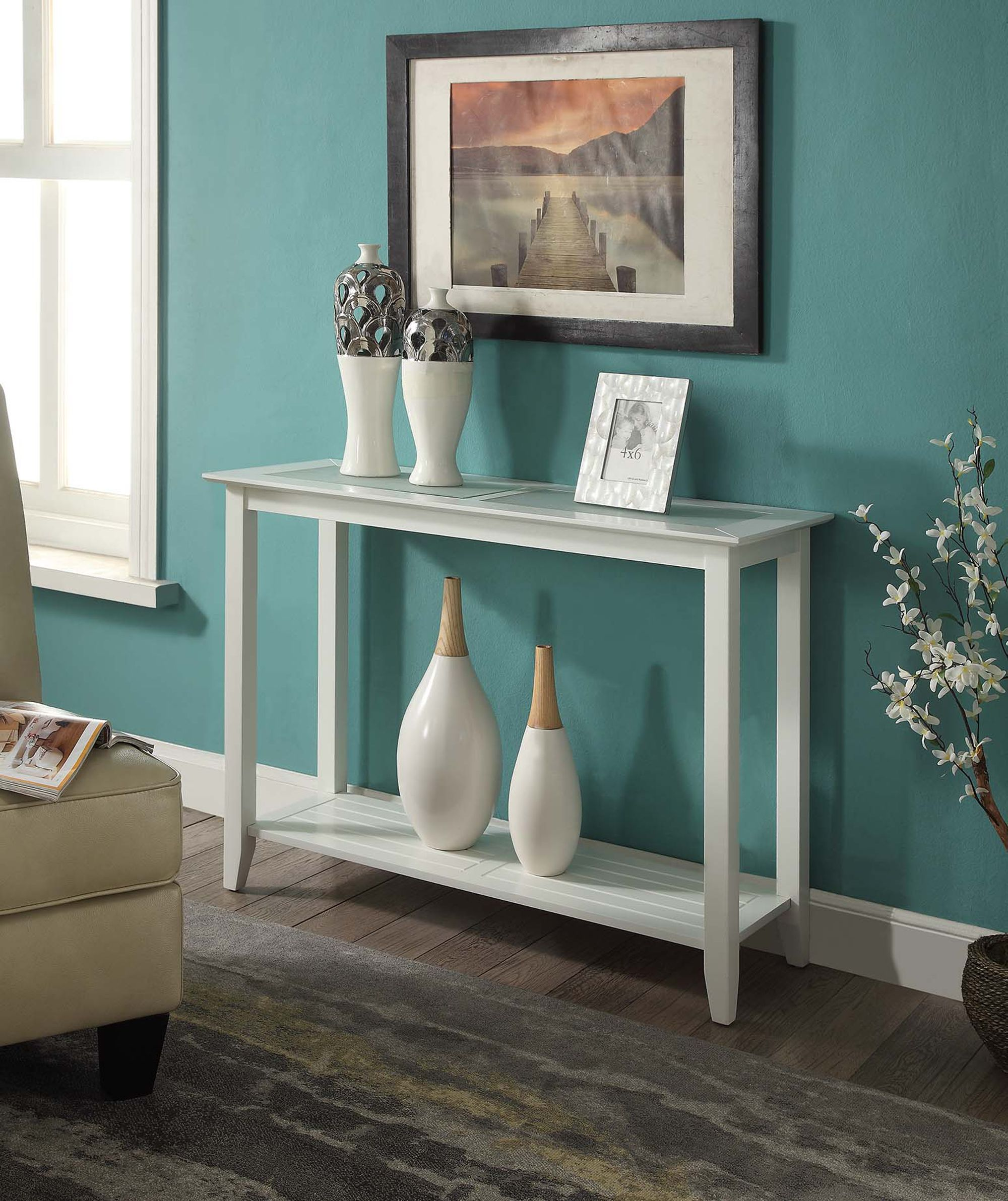 convenience concepts carmel console table multiple colors walmartcom van burenall