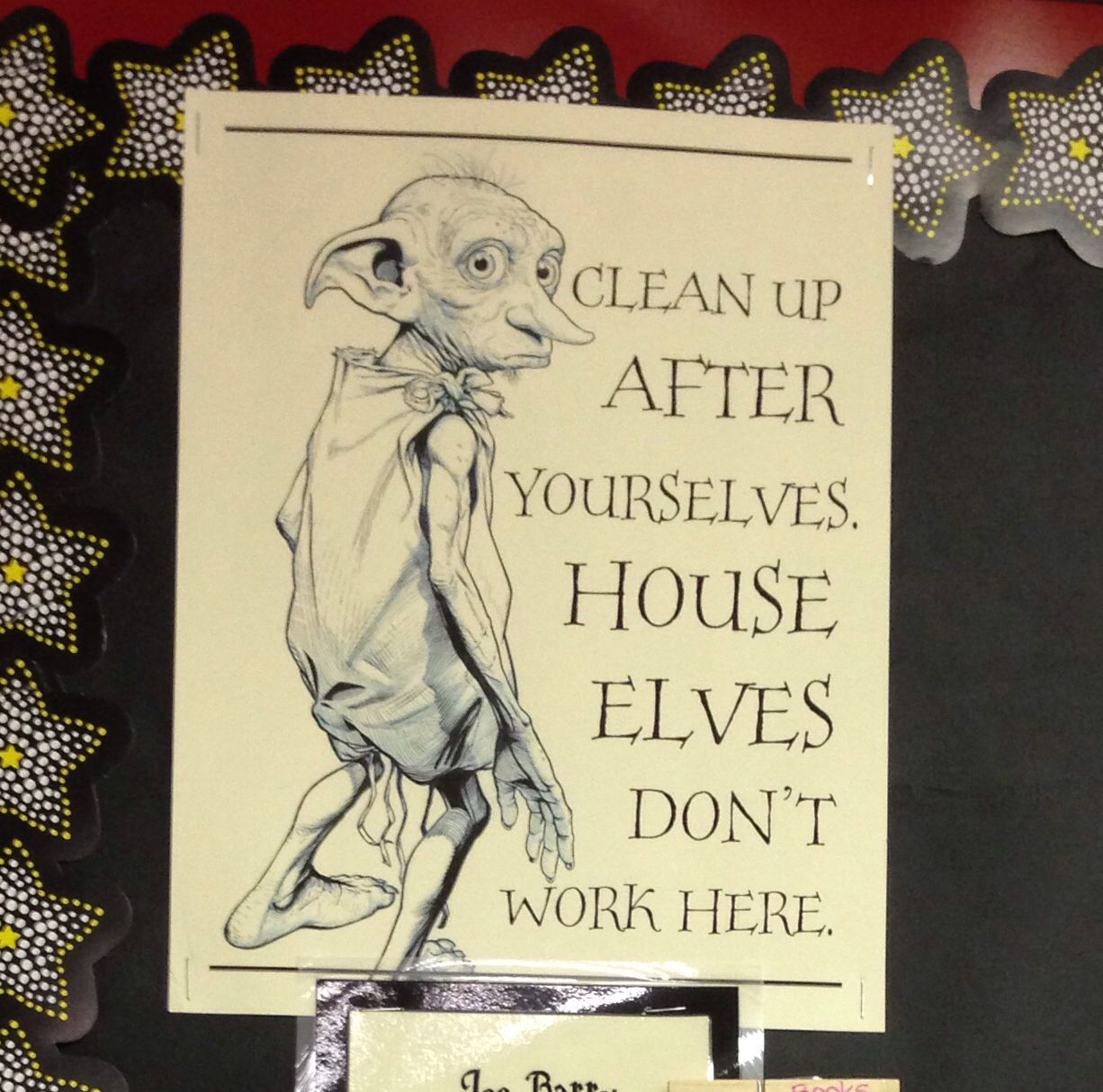 Harry Potter Classroom Chore Chart