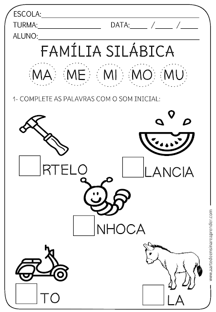 Atividade Pronta Familia Silabica M Atividades Letra E Atividades De Alfabetizacao Atividades Alfabetizacao E Letramento