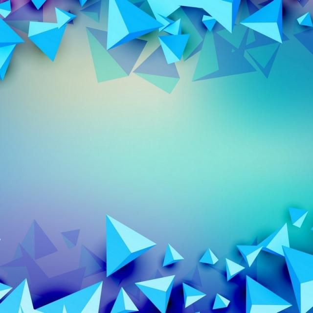 3d Triangle Futuristic Blue Background, Futuristic, Modern