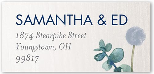 Lovely Floral Address Label Custom address labels, Floral and Products