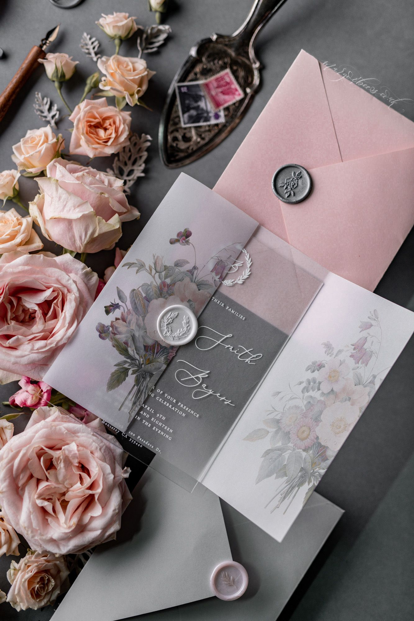 20-100 Blossom Personalised Engagement Invitations
