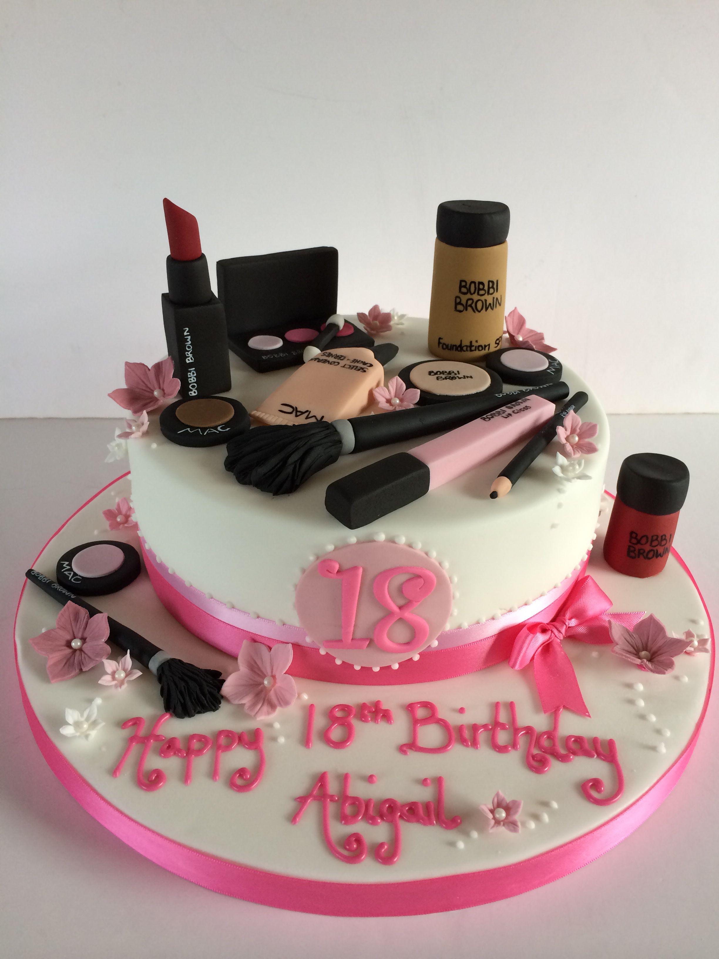 18th Birthday Makeup Cake Makeup Birthday Cakes 18th Birthday Cake Make Up Cake
