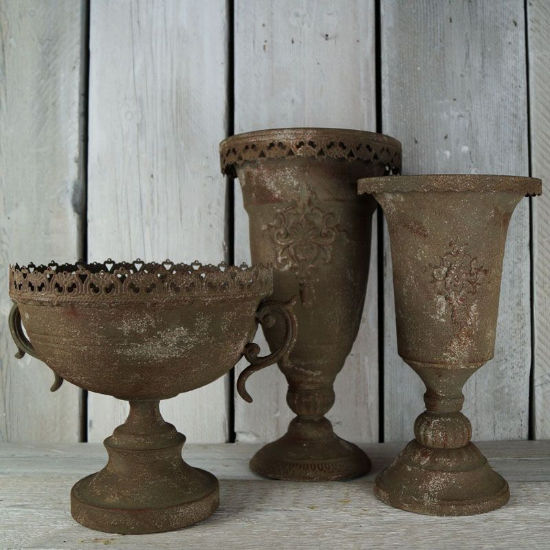Trio of Aged Zinc Planters | Wedding Ideas from The Satchville Gift ...