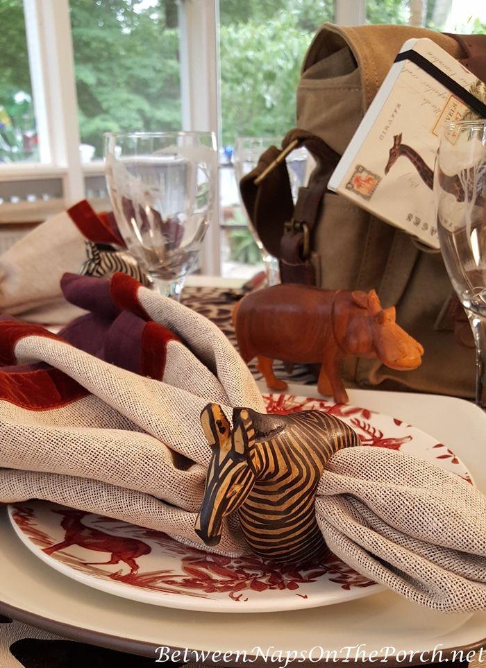 On Safari An African Safari Themed Tablescape Decorating Ideas